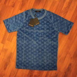 Louis Vuitton Toweling Navy Fabric T-Shirt , NWT